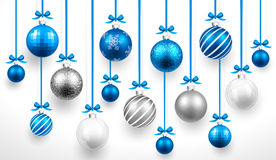 Christmas blue balls. Vector Royalty Free Stock Photography