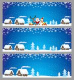 Christmas blue banners. Christmas blue banners for your text and decorations Stock Photography
