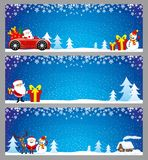 Christmas blue banners. Christmas blue banners for your text and decorations Royalty Free Stock Photo