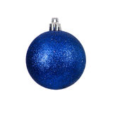 Christmas blue bauble Royalty Free Stock Photography