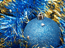 Christmas blue bauble Royalty Free Stock Photo