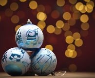 Christmas blue bauble Stock Photo