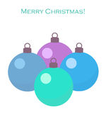 Christmas blue baubles. On white background. Vector illustration vector illustration