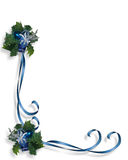 Christmas Blue Border Frame Royalty Free Stock Image