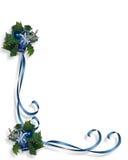 Christmas Blue Border Frame Royalty Free Stock Image