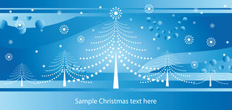 Christmas blue card Royalty Free Stock Photography