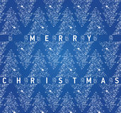 Christmas blue card with grungy Christmas trees Stock Photo