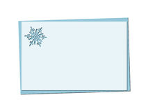 Christmas blue card with snowflake and christmas openwork Royalty Free Stock Image