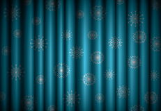 Christmas blue curtain background Stock Images