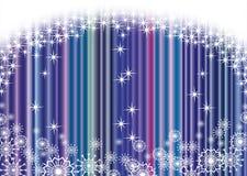 Christmas blue curtain background Stock Image