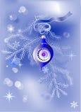 Christmas blue decoration Stock Photo