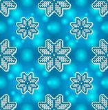 Christmas blue embroidery seamless pattern Stock Image