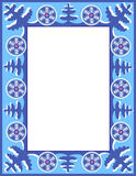 Christmas blue frame with trees Stock Photography