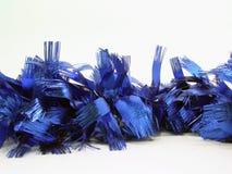Christmas blue garland stock image