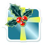 Christmas blue gift box Stock Photography
