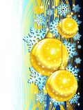 Christmas Blue & Golden Ornaments Background Stock Photography
