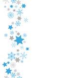 Christmas Blue Gray Snowflakes Stars Stock Photo