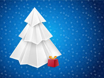 Christmas blue greeting card Royalty Free Stock Photos