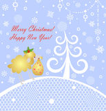 Christmas blue greeting card Royalty Free Stock Photography