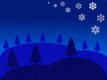 Christmas blue landscape Stock Images