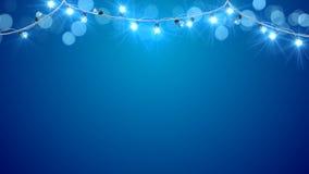 Christmas blue light bulbs Royalty Free Stock Photography