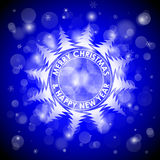 Christmas blue light vector background. Card or invitation. Royalty Free Stock Photography