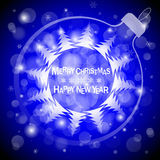 Christmas blue light vector background. Card or invitation. Christmas light vector background. Card or invitation Stock Photo