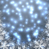 Christmas blue lights background Stock Photography