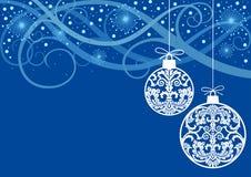 Christmas Blue Ornaments Balls Royalty Free Stock Image