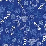Christmas blue pattern Royalty Free Stock Photography