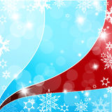 Christmas blue and red background Royalty Free Stock Image