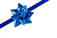 Christmas Blue Ribbon Border Stock Photography