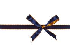 Christmas blue ribbon,isolated on white Stock Photo