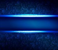 Christmas blue shiny  background Stock Images