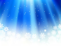 Christmas blue with snow flakes.  + EPS8. Christmas blue background with snow flakes.  + EPS8 vector file Stock Photo