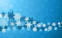 Christmas blue snowflakes background Stock Image