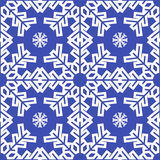 Christmas blue snowflakes seamless background Royalty Free Stock Images