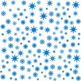 Christmas blue snowflakes seamless background Stock Photos