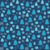 Christmas blue snowy abstract background Royalty Free Stock Photo