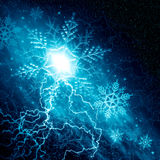 Christmas blue space background Royalty Free Stock Images