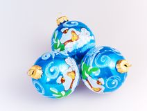 Christmas blue spheres Royalty Free Stock Photo