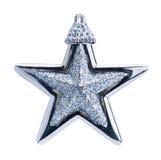 Christmas blue star. Isolated on white background Stock Image