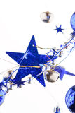 Christmas blue stars Royalty Free Stock Photo