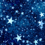 Christmas blue stars background Stock Photography