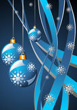 Christmas blue template Stock Photography