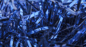 Christmas blue tinsel Royalty Free Stock Photos