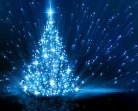 Christmas  blue tree Stock Photo