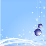 Christmas blue vector background Royalty Free Stock Images