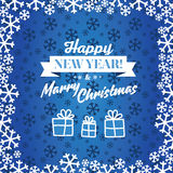 Christmas blue vector background. Card or invitation. Royalty Free Stock Photography