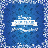 Christmas blue vector background. Card or invitation. Stock Photo